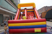 Online purchasing small commercial inflatable slides directly from Guangzhou factory