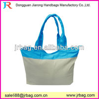 School student 2 colors plain Cotton Canvas Teacher Tote Bags