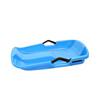 Blue plastic snow sleds for kids with brake