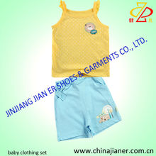 cheap stock girl baby clothing 2 pcs suit set