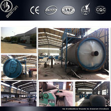 High Efficiency, Professional Manufacturer waste tyre to oil pyrolysis plant