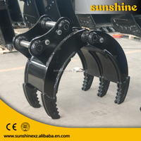 china supplier heavy construction equipment spart parts excavator manul grab