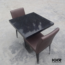 KKR new design customized solid surface tables pub stone table top