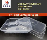 HOT Disposable 3-Compartment PP plastic microwave food container