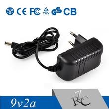universal 9V2A wallmount travel ac adapter