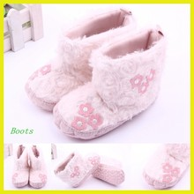 Sweet and fashion baby boots,pink plush baby boots,baby winter boots