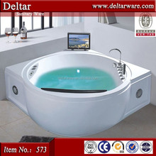 Corner Bathtub Round Shape, Thermostatic Bathtub With TV, Bathroom Bathtub Manufacturer