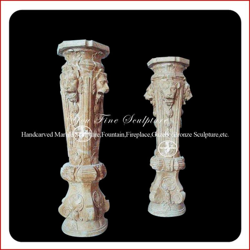 Decorative Antique Greek Outdoor Marble Lion Column Buy
