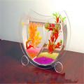 moderno acrílico acuario de peces de venta al por mayor pequeño acuario pecera tanque de medusas