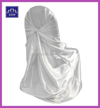 Wholesale White Self-Tie Satin Universal Chair Covers For Wedding