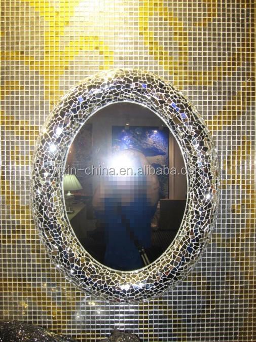 mosa 239 que de carreaux de verre tremp 233 de luxe argent miroir cadre pour le mariage ou coiffeuse