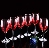 Unleaded crystal wine glass/colored wine glass goblet/christmas decoration wine glass