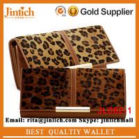 Leopard Clutch Bag Women Horse Hair Cow Leather Wallet