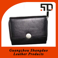 High Quality PU Leather Checkbook Bank Card Wallet Case