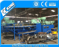 Used 24 stations Three Color PVC Air Blowing Machine