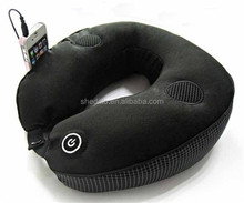 Polystyrene micro beads message neck support u shaped music pillow speaker travel pillow