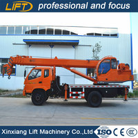 Powerful diesel/electrical motor driving hydraulic small track crane for sale