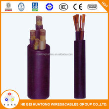 Durable and Reliable underground Rubber insulated mining power cable for coal mine
