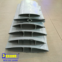 aluminum airfoil profile louver blade extrusion section