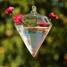 Hexagon customized colored table/hanging glass vases