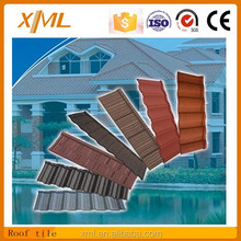 low cost aluminium colorful stone coated metal roof tile