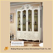 8801 European wooden with glass door antique Bar wine cabinet