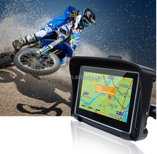 "4.3"" Touchscreen waterproof Motorcycle GPS Navigation SAT NAV Bluetooth Connect 4GB"