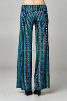 new lady blue color large size palazzo pants wide leg