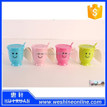 2015 YIWU Stock New Design Hot sell Tea or Coffee Cups With Angel Wings Handle