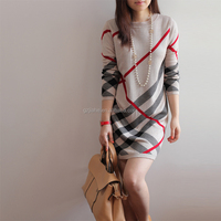 2015 new ladies autumn casual woolen dresses, lasted women fashion long sleeve winter dress with wholesale prices