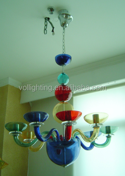 cam avize ışığı disko bar renkli kolye lamba
