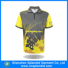 custom design high quality polyester sublimated men polo t shirt