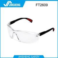 2015 new design best safety glasses rubber legs ce en166 and ansi z87.1 safety glasses