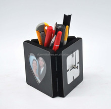 photo size 7x7 cm wooden small holder with pen