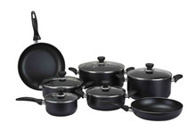 Zhejiang feihong 12Pcs aluminum kitchen cookware sets includes soup pot ,milk pot, and fry pan with non-stick coating
