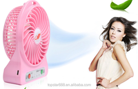 2015 High performance small fan rechargeable battery operated fan
