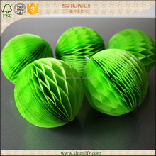 Engagement parties green tissue paper honeycomb pom pom balls