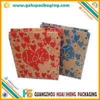 Cheap Customized brand gift bag recycled brown kraft paper bag with handles