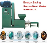 sawdust charcoal briquetting machine/ wood/biomass briquette extruder machine