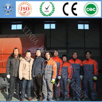 Continuous type Tyre/plastic pyrolysis plant from China professional manufacturer