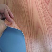 pvc flooring mesh fabric backing 0.6mm thickness/pvc flooring with white blue film/ fabric pvc flooring
