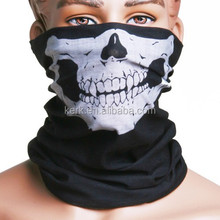 Factory wholesle more than 400 stock designs 100% high micro polyester outdoor multifunction skull bandana
