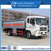 hot sale DongFeng 15000L hydraulic oil transport truck for coal, tar oil fuel transportation tanker truck oil carrier truck