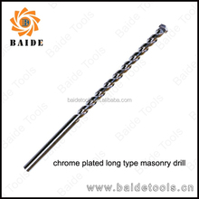 Long Type High Quality Masonry Drill Bits, Milled, Square Flutes,Chrome Plated