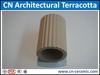 Terracotta natural clay stick with facade curtain wall