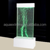 Table top dancing bubble panel with LED changing color light for decor