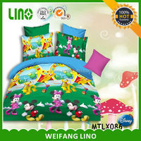 bed mickey king size/queen size bed cover/chinese bed cover
