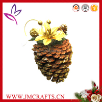 Professional new products 2016 pine cone Christmas decoration with high quality