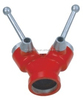 2 way breeching inlet valve / fire fighting water divider