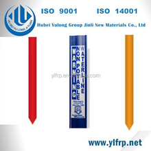 high quality fiberglass post for damage prevention warning post marker post